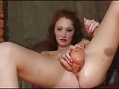 A doll in her pussy!