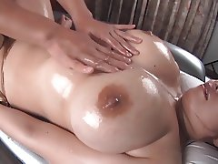 Oily massage with big boobs