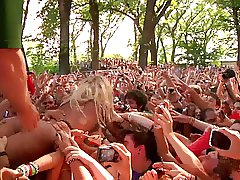 lady gaga licked and groped while crowd surfing