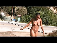 Black woman butt naked in public