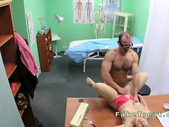 Sexy patient fucked by doctors cock