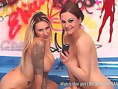 Jessica Lloyd & Tina Kay in paddling pool 4