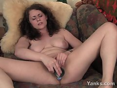 Busty Brunette Alex Toy Her Pussy And Ass