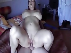 Cute Fat Chubby GF with nice ass riding cock