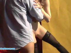 18yo amateur does lapdance for horny guy