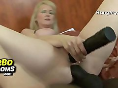 Fat lady Amanda big tits fuck and facial