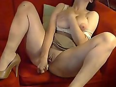 Big Breasted Milf Masturbates