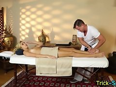 Blonde babes foot massage