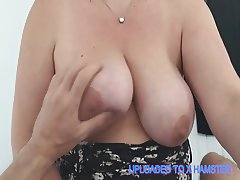 Big Titted Wife Wanking Cock