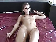 Skinny young girl threesome