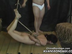 Asian slut is properly tied up by her man bds