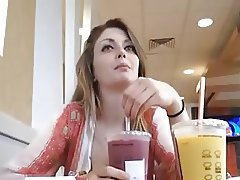 Horny girl at McDonalds