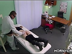 Doctor fucks skinny girl