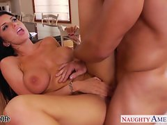 Busty brunette wife Romi Rain gets nailed