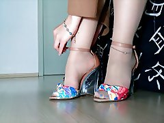 Tan stockings designer sandals Enj0y