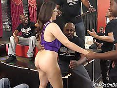 10 Blacks fucks cute white girl Valentina Nappi