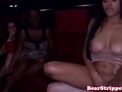Ebony bachelorette cockriding stripper