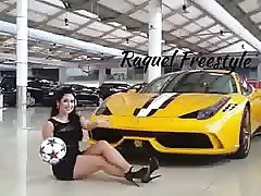 Raquel Benetti Shows Off Her Awesome Balls Skills in Heels
