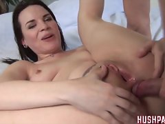 Dana gives up her pink ass flower to a  cock