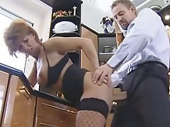 His compliments made this German granny in stockings horny