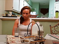 Beth does the milk challenge