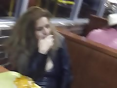 busted blowjob in puplic cafe