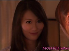 Japanese pussyeating milf seduces babe
