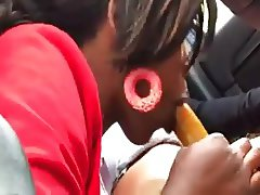 Hooker blowjob with condom