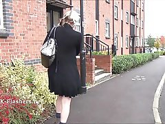Blonde flasher Dees exhibitionist adventures and public nude