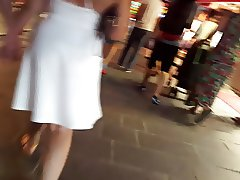 Turkish married women thongs in a white skirt. -see through-