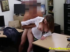 Foxy Milf Bargains With Her Tits And Pussy