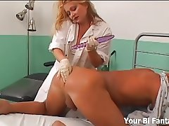 Strapon fucked by your dominant nurse