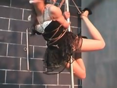 innocent Chinese girl in rope bondage