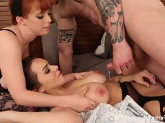 Natasha Nice & Penny Pax take a big dick