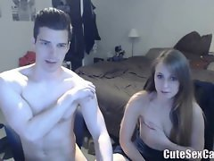 Sweet Hot Couple Fuck with Blowjob on Webcam
