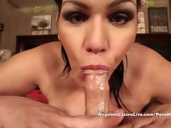 Angelina Castro Gets Cock & MASSIVE Facial Cum shot after Workout