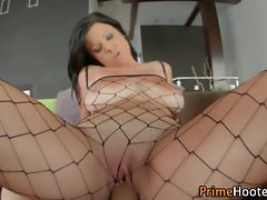 Huge hooters babe rammed