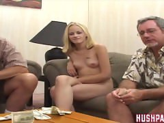 Identical Twin Teens suck and fuck some Old Cocks!