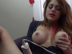 Vibrator for her hungry pussy
