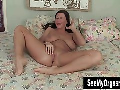 Big Titted Cherry Fingering Her Snatch