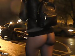 Pantyhose bottomless flash at bar. Jeny Smith