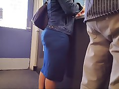 Thick Milf in tight long dress