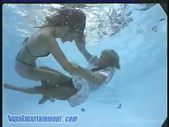 Underwater catfight