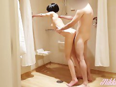 Stunning wife makes him cum twice (huge loads) in a hotel room after 2 week