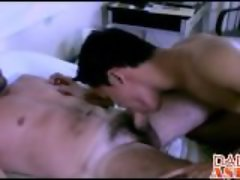 Daddy teaches Jimmy how to have nasty fun in the bedroom