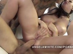 Big Natural Boobs Angela White Anal Threesome with Bonnie Rotten