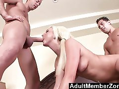AdultMemberZone - Young Kendra Fucked by 2 Studs