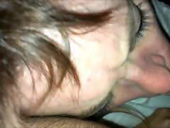 French amateur whore gives midnight blowjob with cumshot