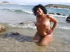 mother in law at the beach