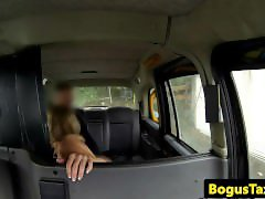 Busty euro chick pov dicksucking in cab